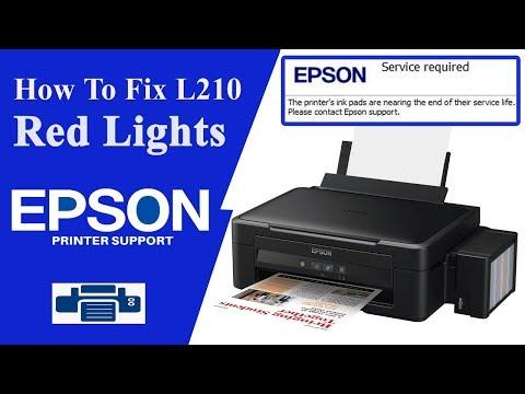 Epson L210 Reset , service required error