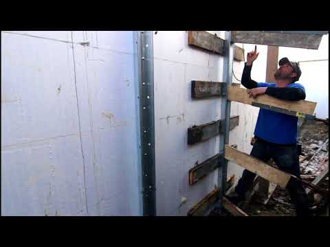 ICF Construction : How to Brace a T-wall in ICF