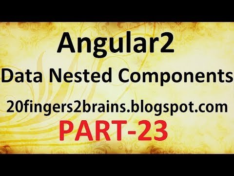 Angular2 - Passing data between nested components