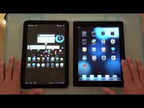 مقارنة الآيباد 2 مع جهاز موتورولا زووم