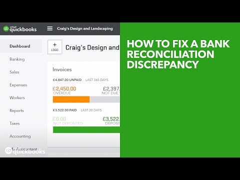 How to fix a bank reconciliation discrepancy