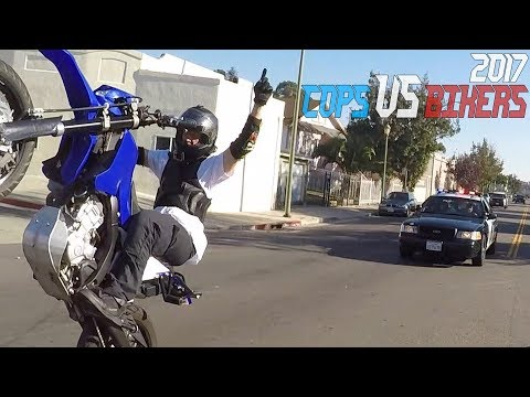 Cops VS Bikers Running From POLICE CHASE Motorcycle Caught By Cop + Wheelie FAILS Bike Chase 2017