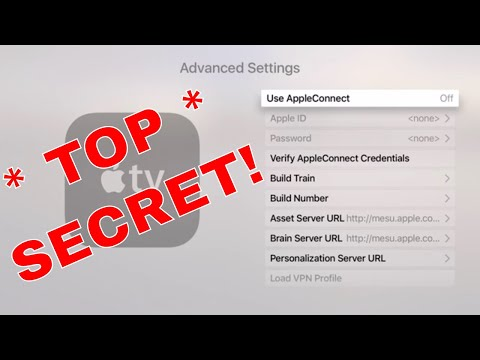 Apple TV 4 Secret Hidden Menu