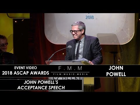 2018 ASCAP Awards: John Powell's Acceptance Speech (Henry Mancini Award)