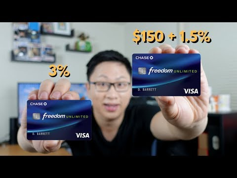 Chase Freedom Unlimited: 1.5% vs. 3% Cash Back Offer