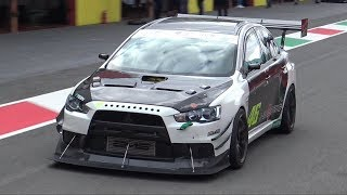 Mitsubishi Lancer EVO X Time Attack MONSTER OnBoard @ Mugello! - SCREAMING Turbo Sounds!