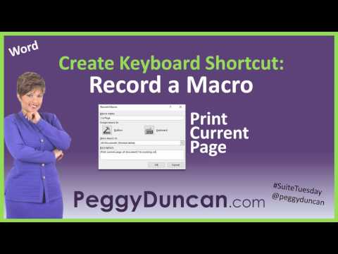 Create Your Own Keyboard Shortcut with a Macro in Word (Print the Current Page)
