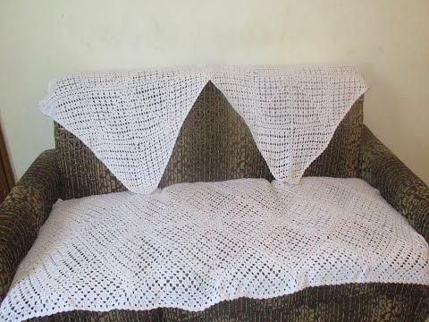 Making of square sofa cover using crochet [Hindi]