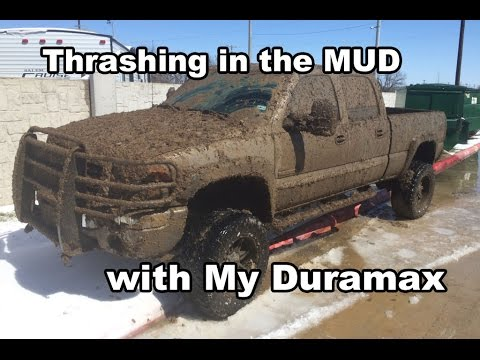 Thrashing in the MUD with my Duramax after some SNOW