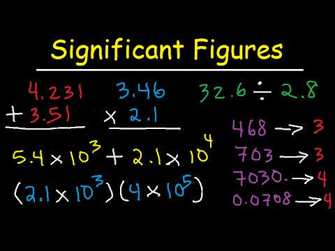 Significant Figures - Addition Subtraction Multiplication Division & Scientific Notation Sig Figs