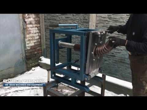 Manual elbow making machine MEM-150 bending of the coated pipe 110mm