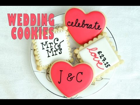 WEDDING COOKIES, PIPING LETTERS ON COOKIES, HANIELA'S