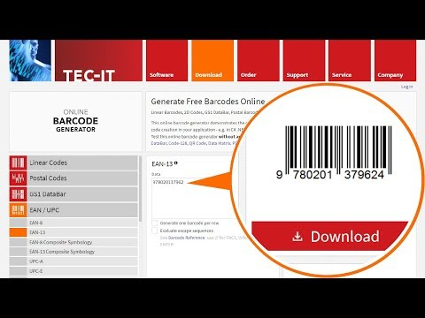 How to Create Barcodes - Free and Online