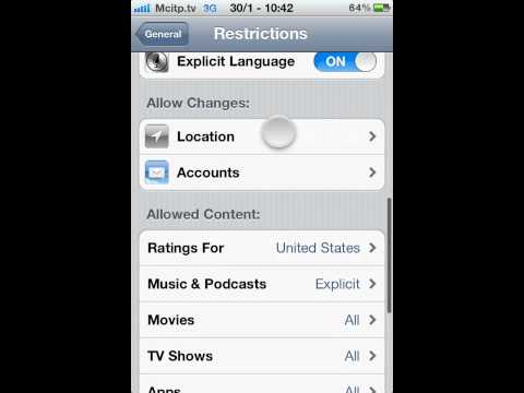 how to restrict safari access to location services in iphone ios 5