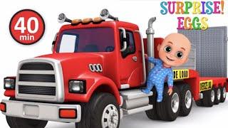 Car Loader Trucks for kids - Cars toys videos, police chase, fire truck - Surprise eggs  jugnu kids