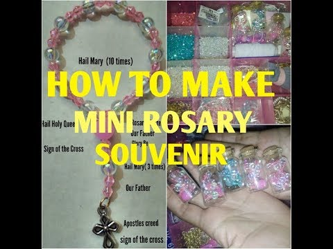 How to make Mini rosary (souvenir)