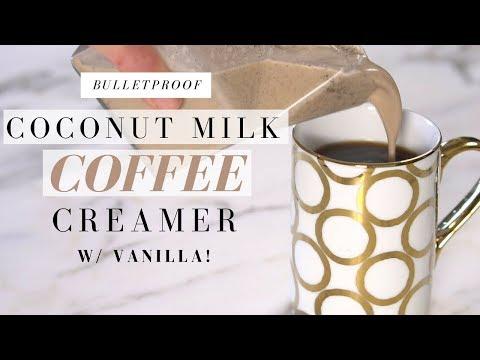 BULLETPROOF Coffee Recipe COCONUT MILK CREAMER | Mikaela South