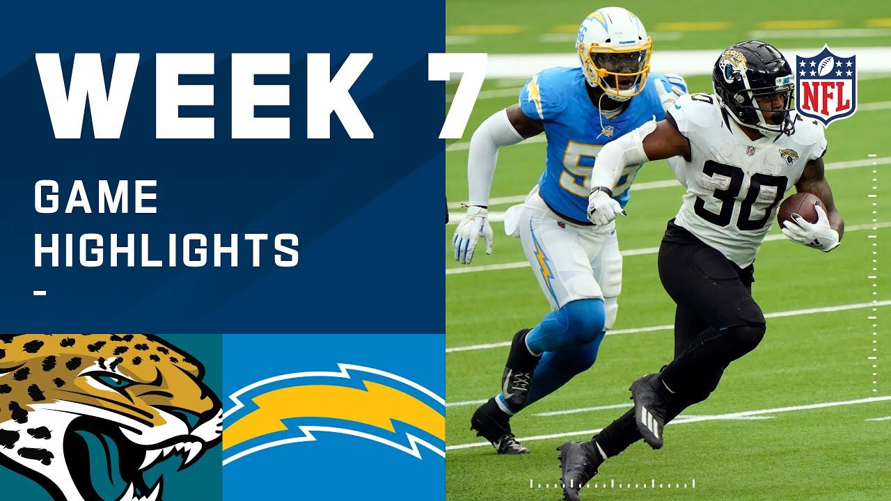 Jaguars vs. Chargers Week 7 Highlights | NFL 2020