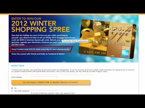 American Express Shopping Spree Gift Card Contest