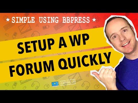 BBPress Wordpress Tutorial - Set up a Forum in Wordpress using bbPress plugin