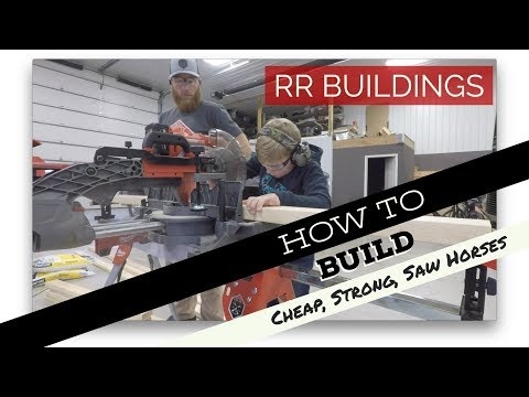 How to build job site saw horses