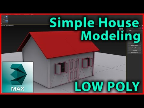 3DsMax low poly House / building modeling | 3D Tutorial |