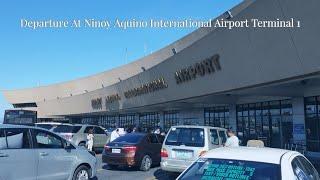 (Travel Vlog) Departure At Ninoy Aquino International Airport Terminal 1 Manila Philippines Travel