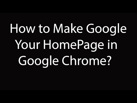 How To Make Google.com As Your Homepage in Google Chrome ?