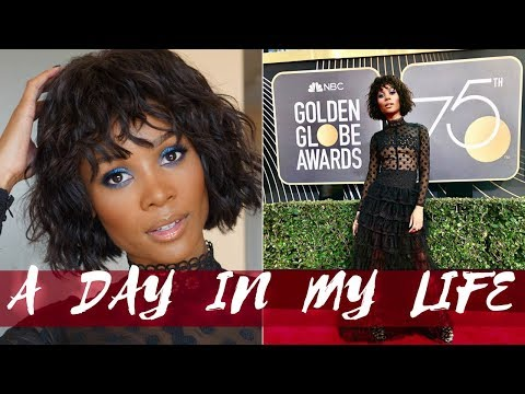 VLOG   COME WITH ME TO THE GOLDEN GLOBES 2018   HEY ZURI HALL
