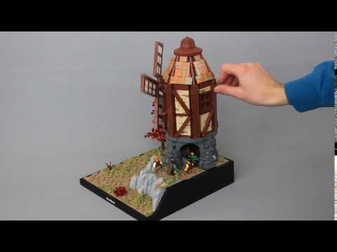 LEGO Skyrim Windmill - Working Features