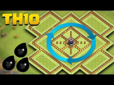 TH 10 Dark Elixir Base | COC Town Hall 10 De Farming Base | Clash Of Clans