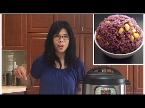 Purple Rice - Cooking Rice in Instant Pot - Instant Pot Rice