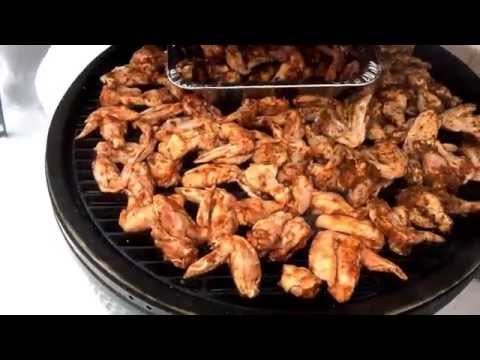 Super Bowl wings on the Big Green Egg