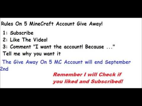 Minecraft 5 Account Give Away! (Closed)