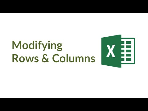 Introduction to Excel: Operations with Rows & Columns in Excel