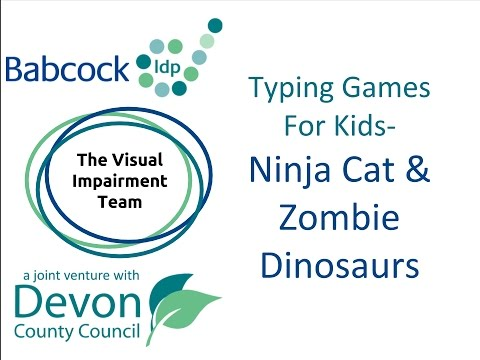 Typing Games For Kids- Ninja Cat and the Zombie Dinosaurs