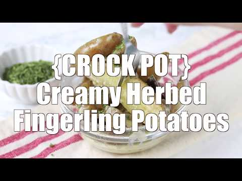 How to make: Crock Pot Creamy Herbed Fingerling Potatoes