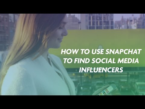 How to Use Snapchat to Find Social Media Influencers