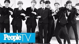 BTS Pay Tribute To The Beatles For Their Debut On The Late Show With Stephen Colbert | PeopleTV