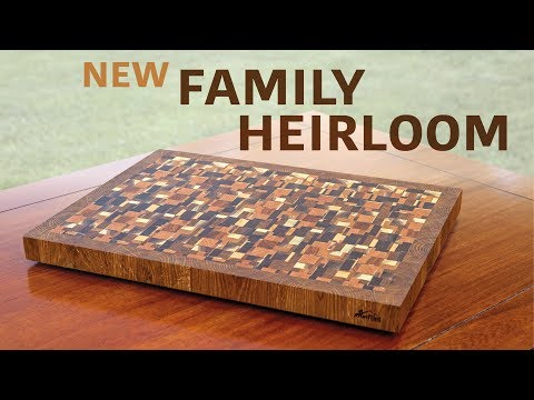 Chaotic Style End-Grain Cutting Board, with a Twist