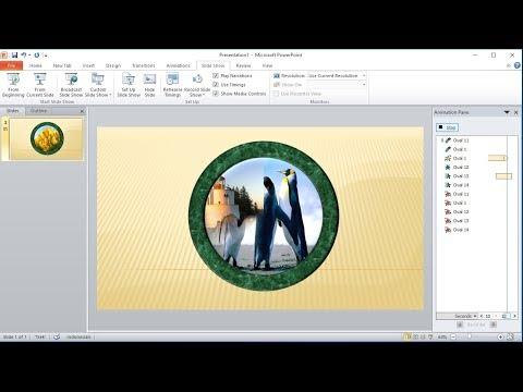 Tutorial powerpoint 2010 |Cara Membuat Animasi Memutar(Spin) Bingkai Foto dengan Custom Animation