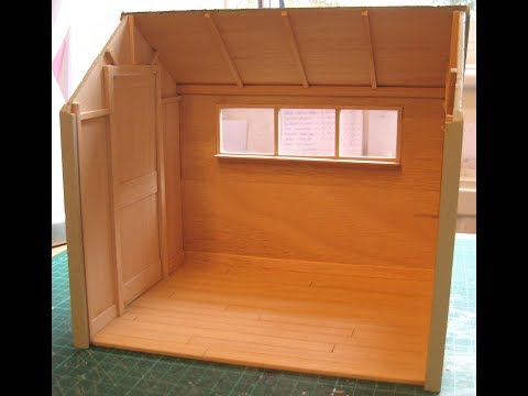 How to Cover a Small Area with Strip Wood Flooring - for Dolls Houses