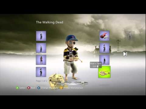 The Walking Dead XBox Live Marketplace Avatar Items