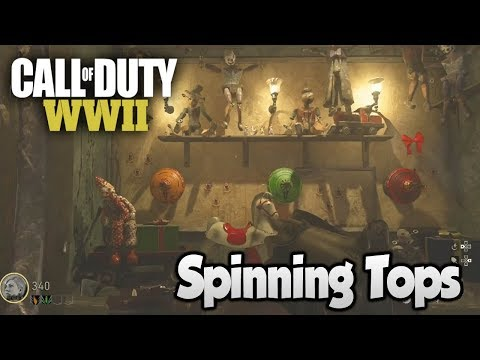 COD WW2 Zombies The Final Reich - Easter Egg Step 1 (Coloured Spinning Top Toys)