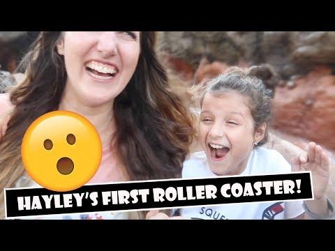 Hayley's First Roller Coaster 😲 (WK 383)   Bratayley