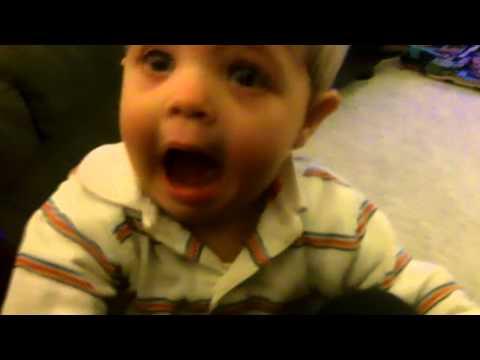 Josh 11 months old tantrum