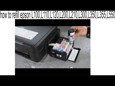 how to refill epson L100,L110,L120,L200,L210,L300,L350,L355,L550, in Hindi
