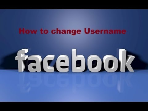 How to Change Facebook Account Username