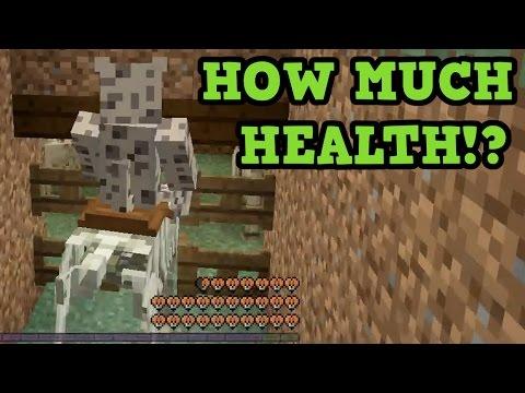 Minecraft PS4 / Xbox One - RARE DOUBLE HEALTH HORSES