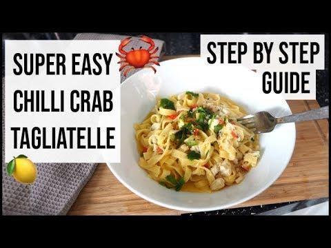 How To Cook Chilli Crab Tagliatelle - Easy & Simple Pasta Recipe | AD